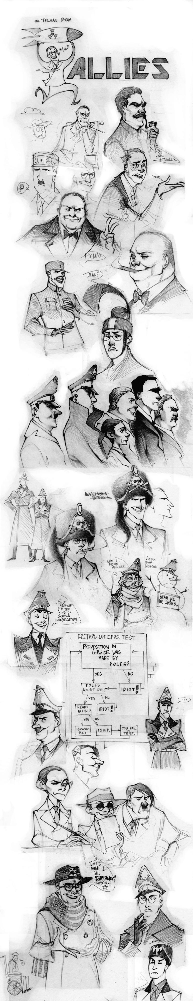 WW2 Sketch dump by Phobs.deviantart.com on @deviantART