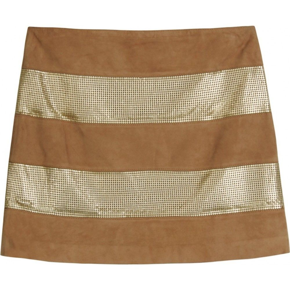 Haute hippie metallic leather skirt