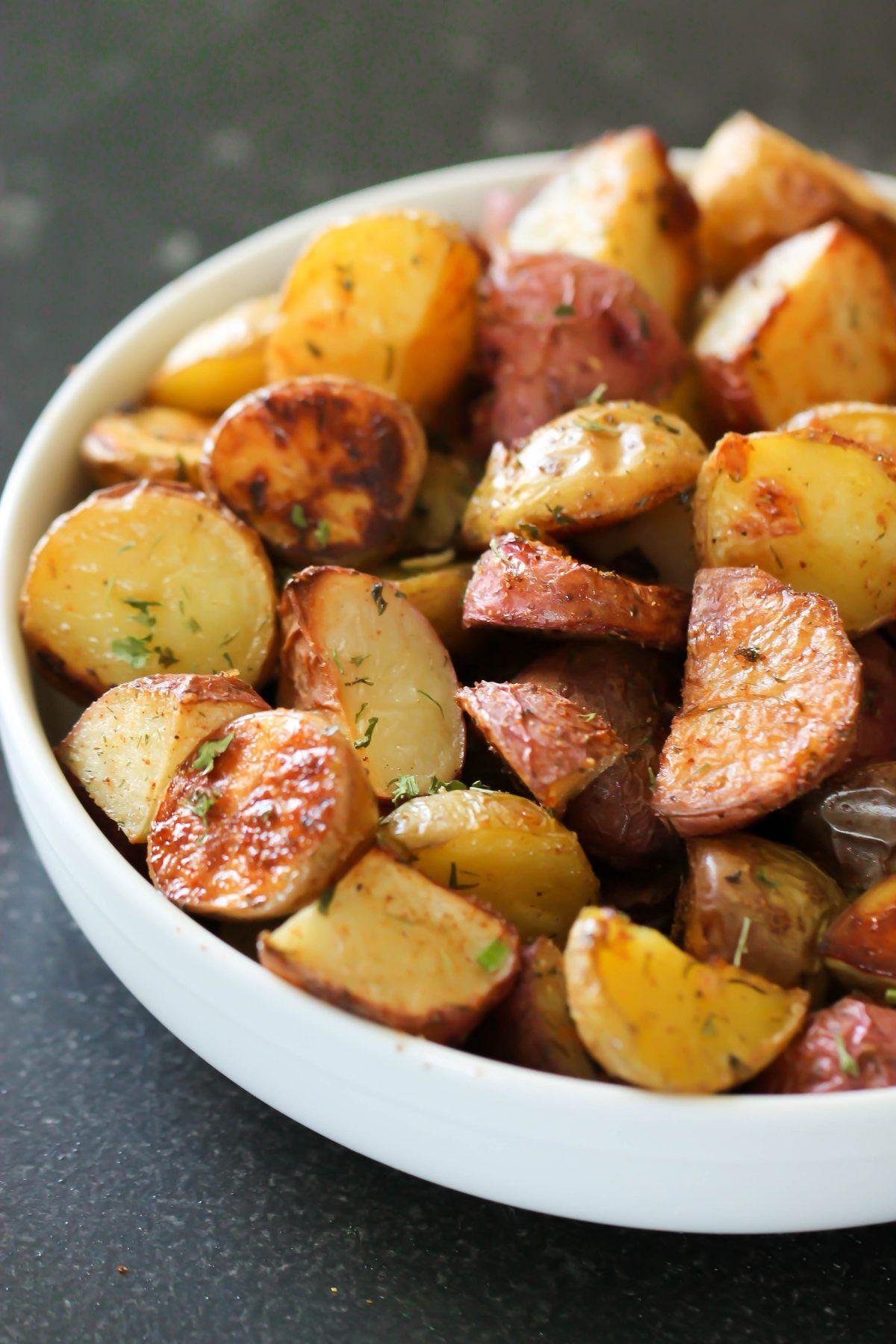 Roasted Baby Potatoes Six Sisters Stuff Roasted Baby Potatoes Potato Recipes Baby Potato Recipes