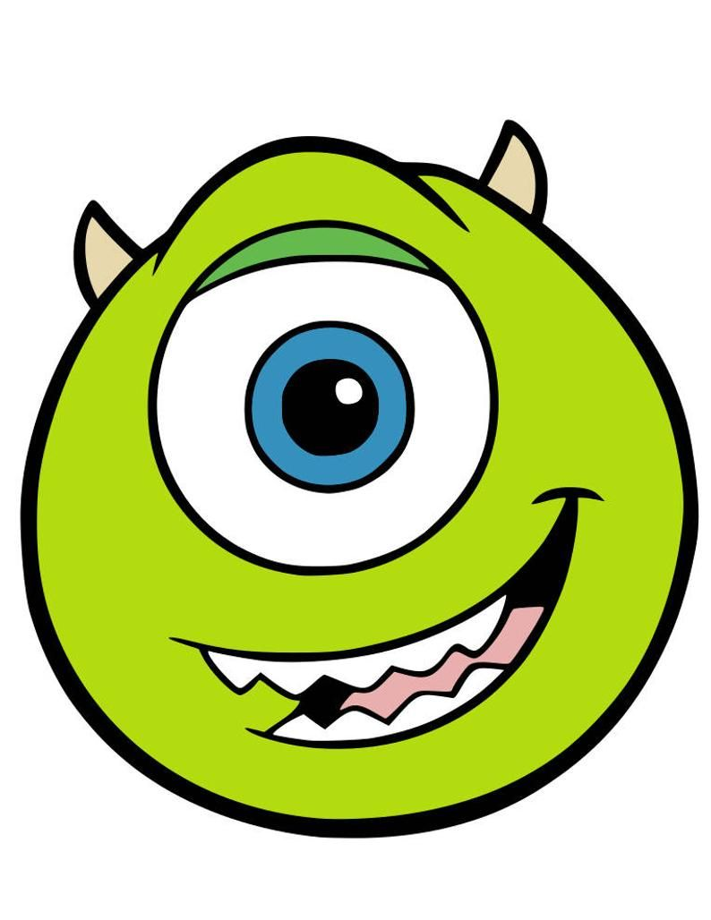 Mike Sully Celia Randall And Boo Faces Svg Pdf Png And Dxf Files Mike And Sully Monster Inc Birthday Monsters Ink