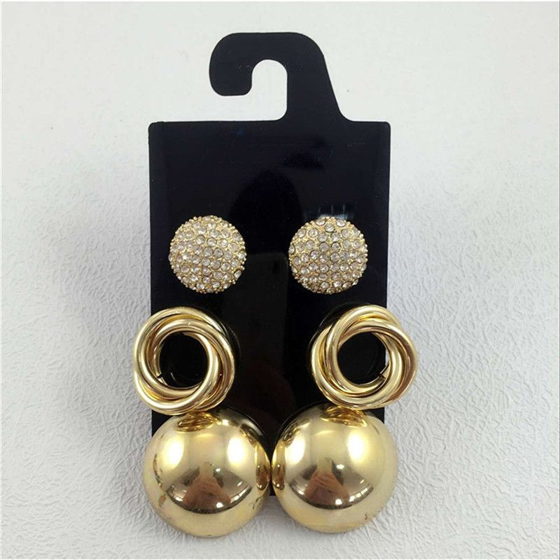 Fashion Jewelry Reliable Black Balls Necklace And Earrings