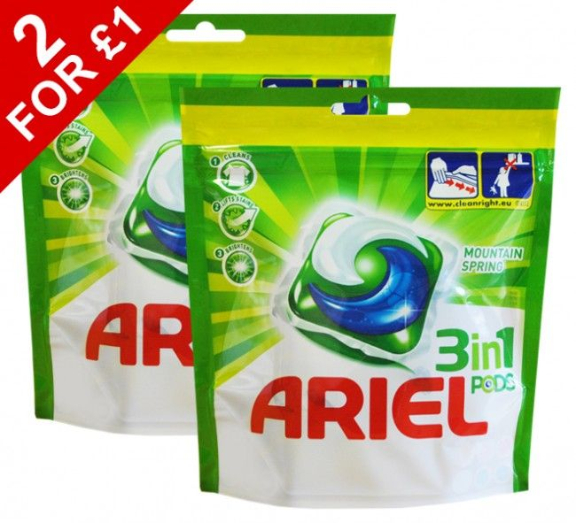 6 Pack Ariel Laundry Pods Mountain Spring Only 1 At Www