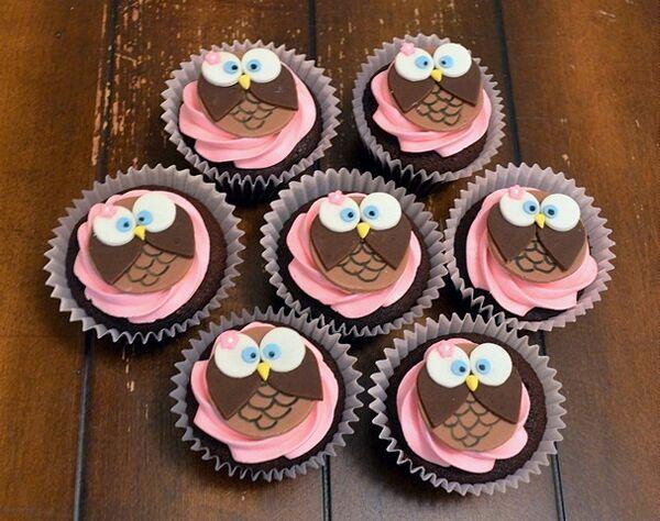 Cupcakes coruja
