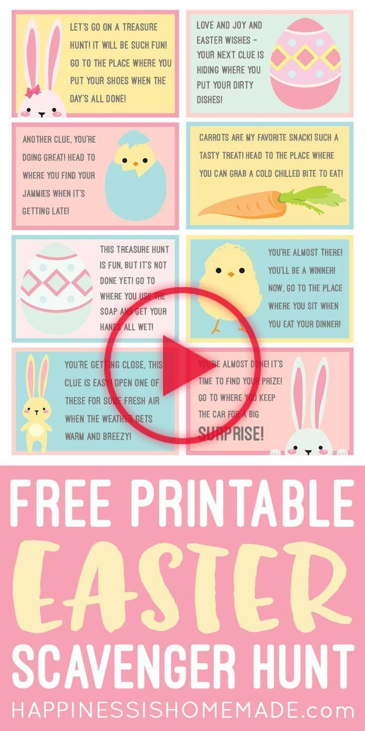Easter Scavenger Hunt FREE Printable! These free