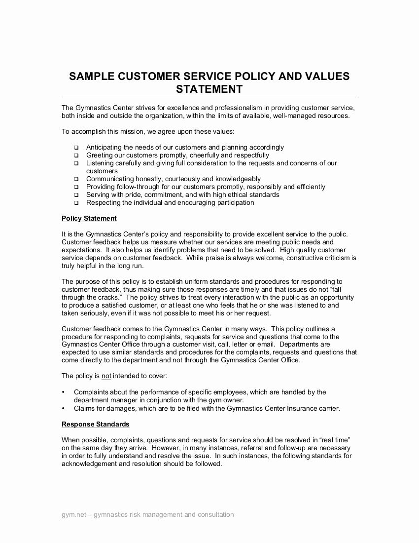 Customer Service Complaints Examples Beautiful 21 Customer Service Policy Example In 2020 Career Change Cover Letter Cover Letter For Resume Sample Resume Cover Letter