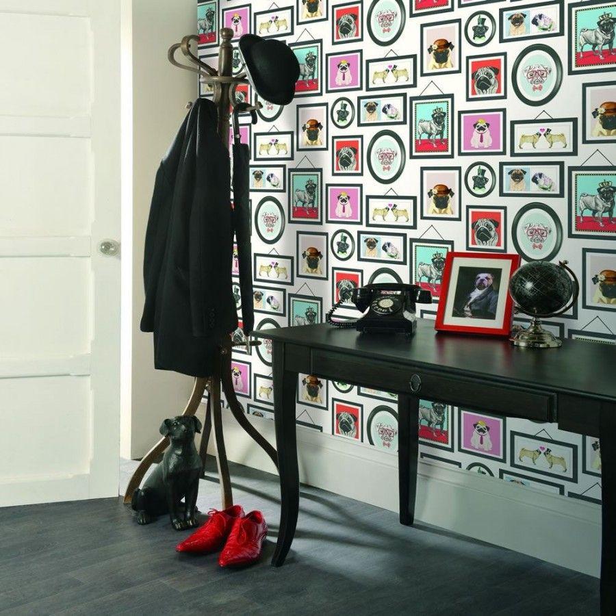 Papel pintado para pared marcos de carlinos vintage inglés Carlinos ...
