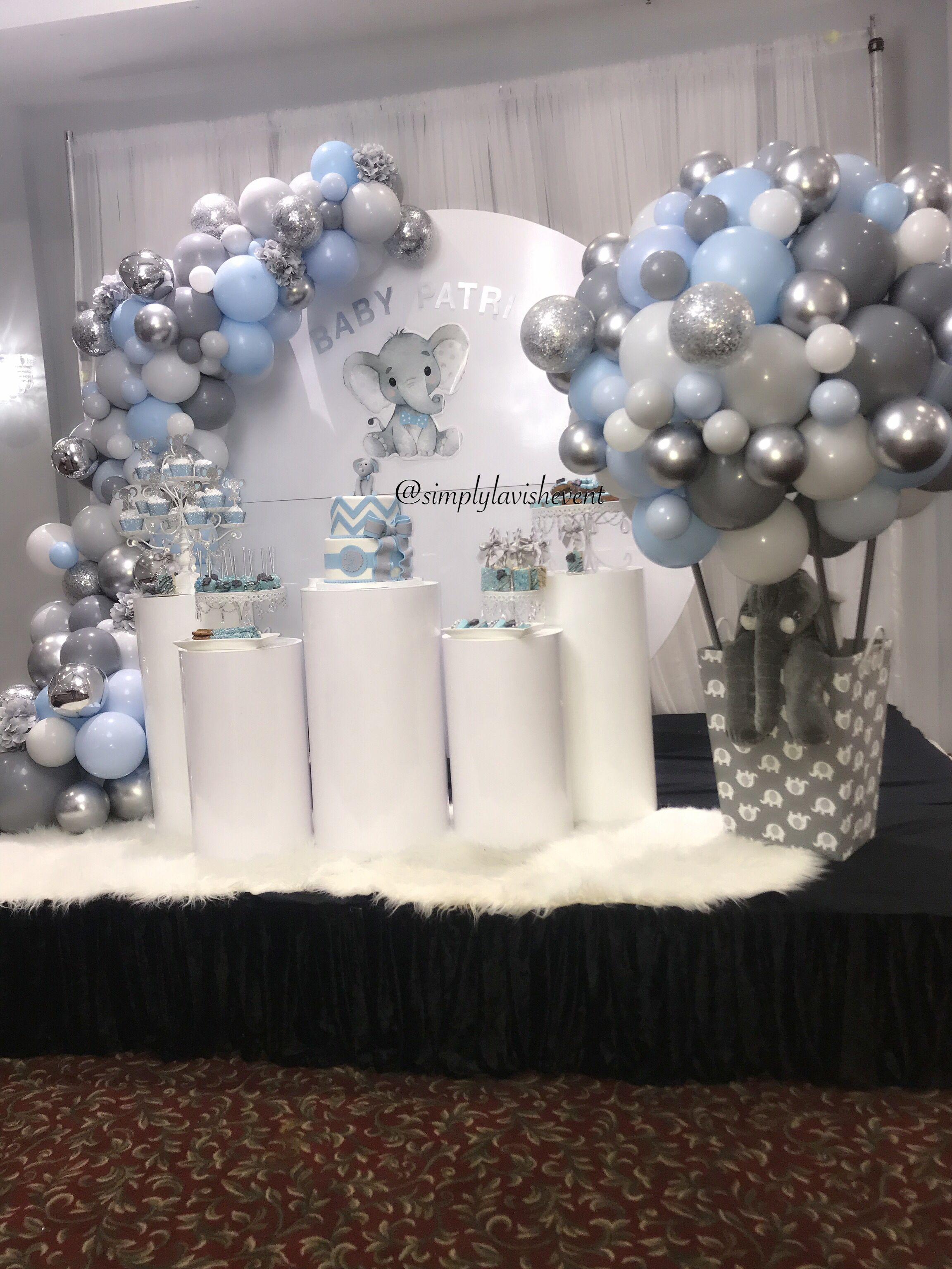 A Classy And Elegant Elephant Theme Baby Shower Follow Us