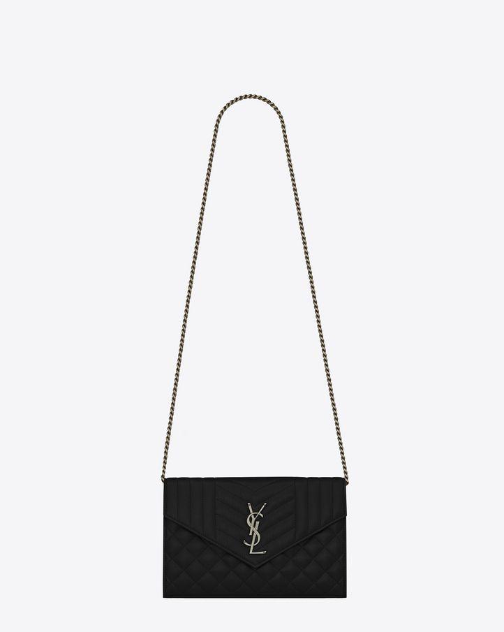14b95263723 Saint Laurent Mix Matelassé Chain Wallet: discover the selection and shop  online on YSL.com