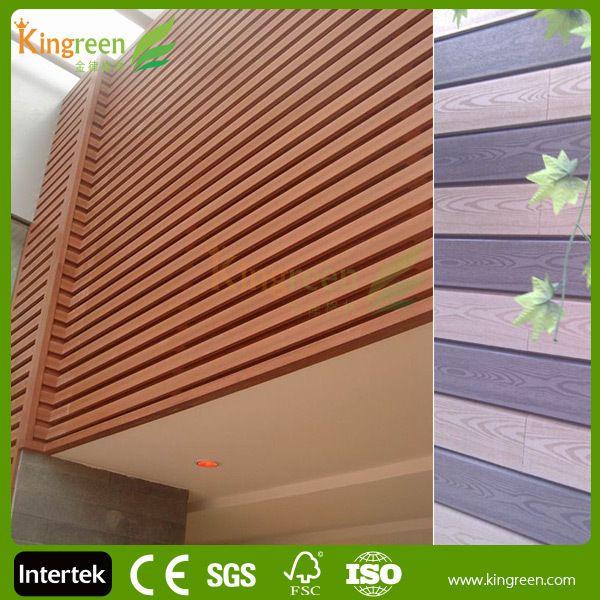 Plastic Exterior Wall Decorative Panel Fire Resistant Wood Plastic