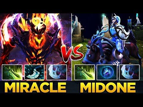 9k miracle shadow fiend vs 10k midone luna dota 2 battle http
