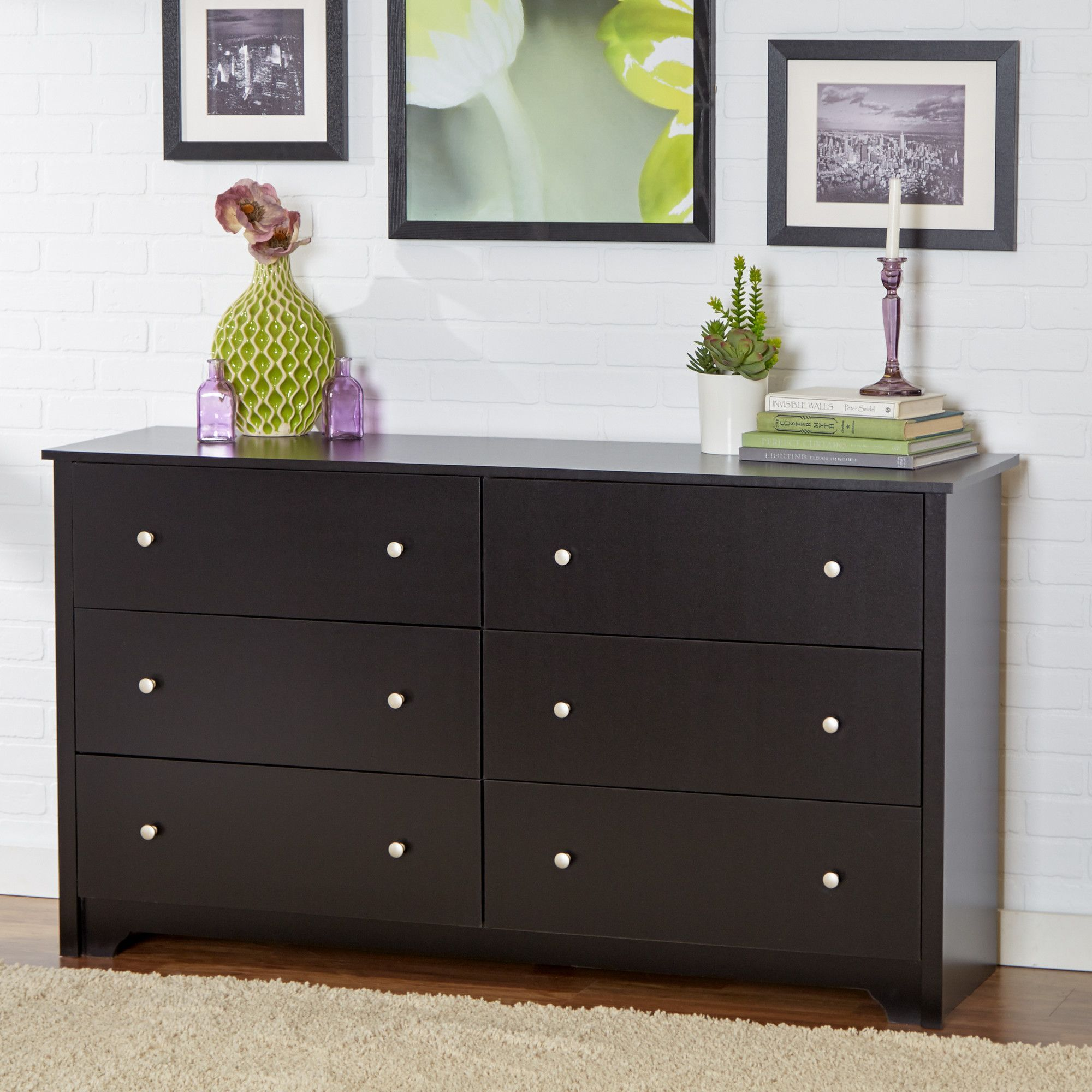 Ava 6 Drawer Double Dresser  Mdf Pintado  Pinterest  Double Inspiration Bedroom Dressers Review