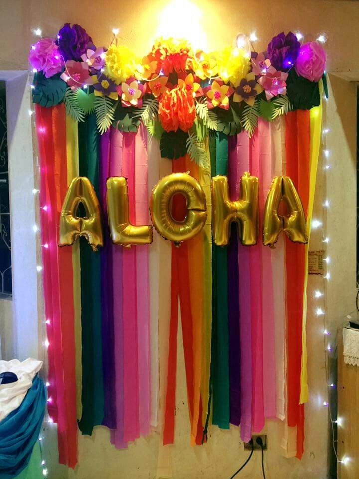 Raroi S Welcome Party Aloha Tropicalthemed Tropical Diy Party