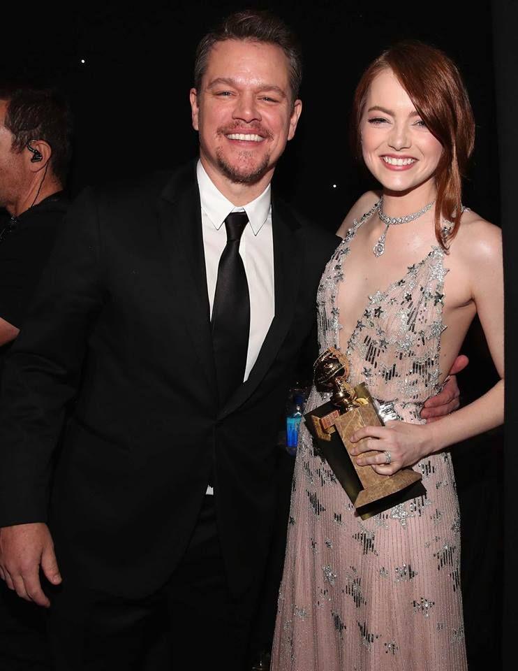 Emma and Matt Damon