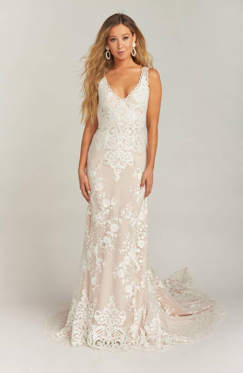 Show Me Your Mumu Contessa V Neck Lace Wedding Dress Nordstrom Wedding Dresses Lace Wedding Dress Sizes Wedding Dress Necklace