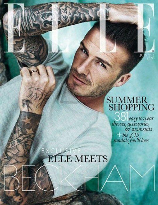David Beckham, Elle UK (2012)