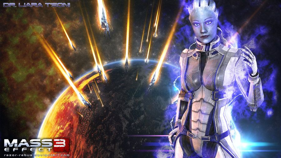 Mass Effect Wallpaper Liara Tsoni By Razor Rebus Mass