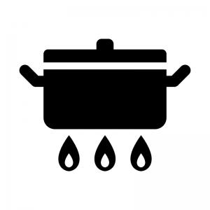 お鍋とガス火のシルエット 無料のai Png白黒シルエットイラスト シルエット イラスト Instagramハイライトアイコン イラスト