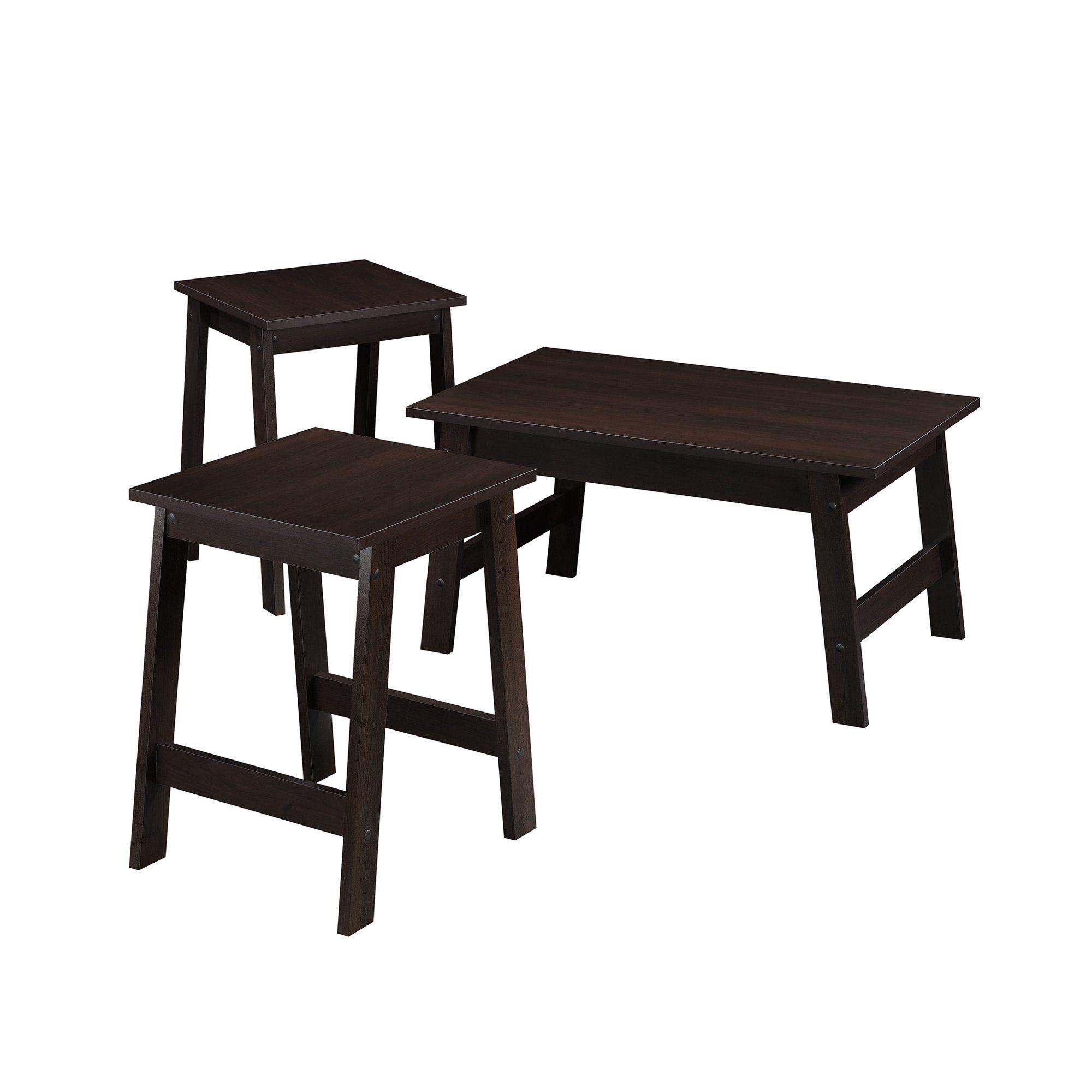 Mainstays Pilson 3 Piece Coffee Table And End Table Set Espresso Finish Walmart Com Walmart Com End Table Sets Coffee Table End Tables [ 2000 x 2000 Pixel ]