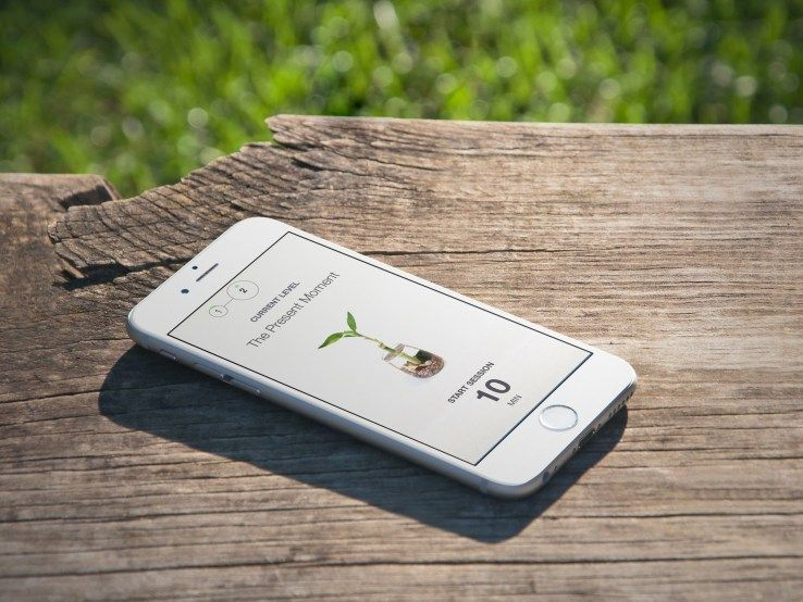 An iPhone compass app uses the phone's accelerometer to