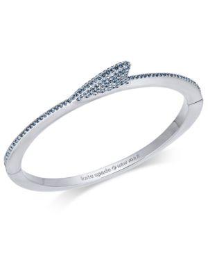 d9895567578da kate spade new york Silver-Tone Pave Shark Fin Bangle Bracelet ...
