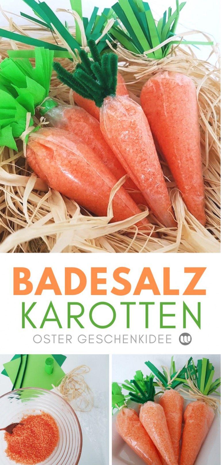 DIY Geschenkidee: Ostereier Badebomben & Badesalz Karotten