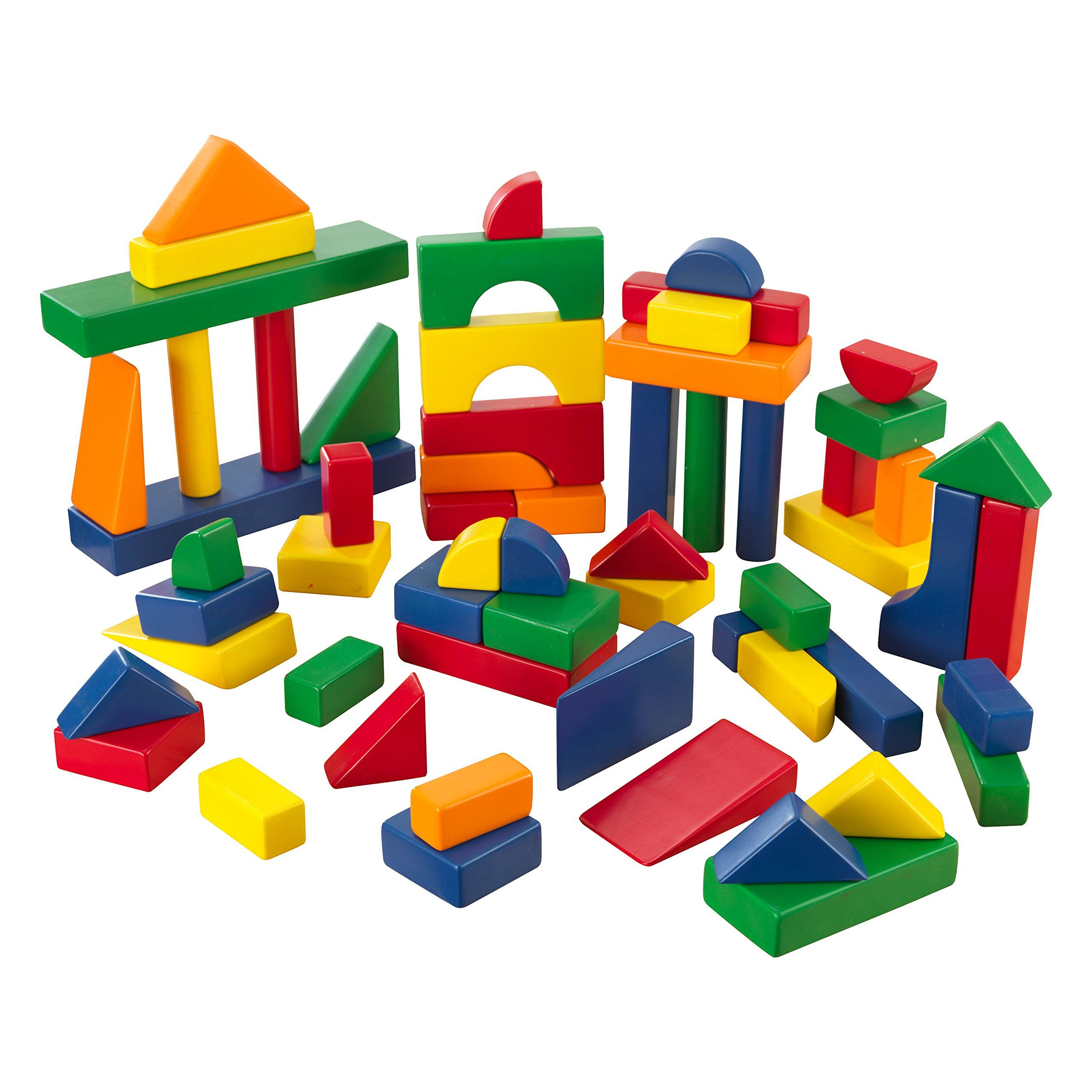 KidKraft 60 PC Wooden Block Set - Primary Colors. 60 primary colored blocks. No assembly required. Wooden Blocks.
