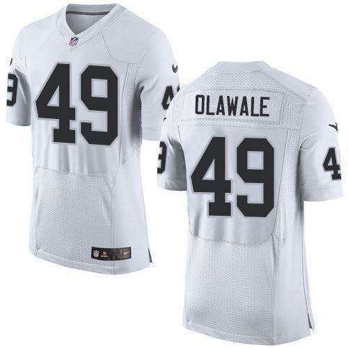 Men's Nike Oakland Raiders #49 Jamize Olawale Elite White NFL ...