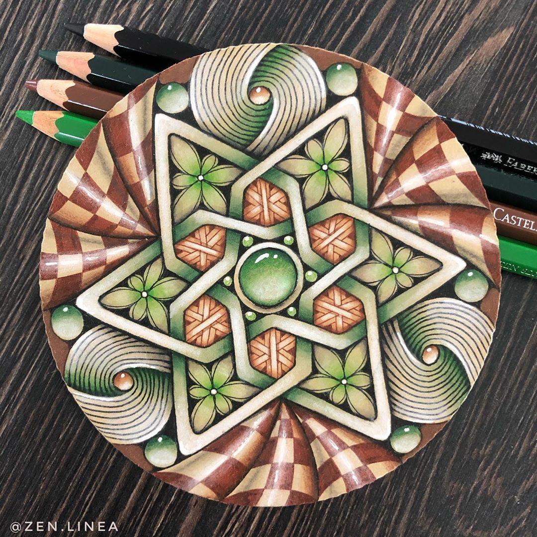 378 Me Gusta 14 Comentarios Anica Gabrovec Czt Zen Linea En Instagram Another Alhambra Inspired Focal De In 2020 Zentangle Artwork Zentangle Drawings Zentangle