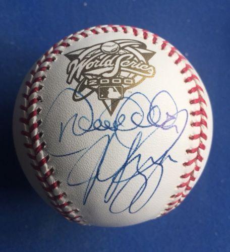 710314de3fe Derek Jeter   Mike Piazza Autographed Signed Baseball 2000 World Series Ball
