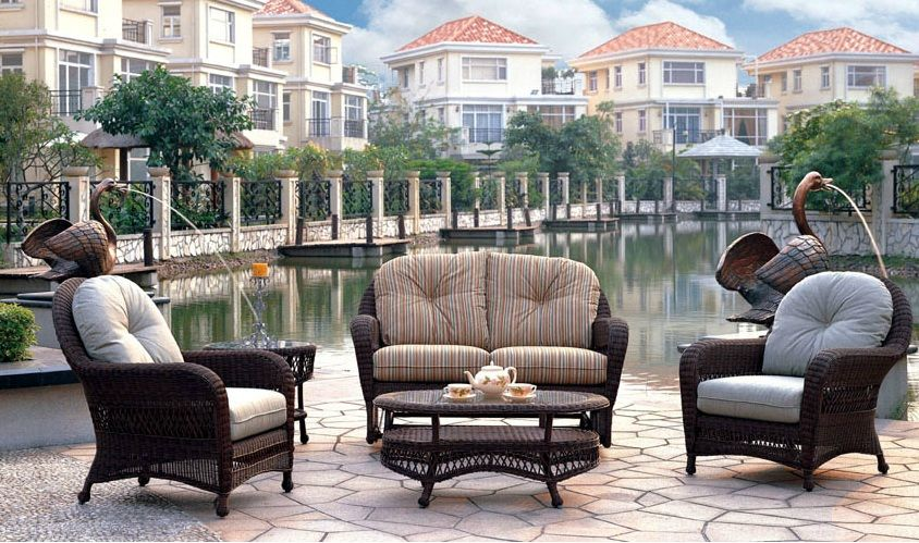 Patio Renaissance Rivierra Wicker Furniture Furniture Outdoor Furniture Sets