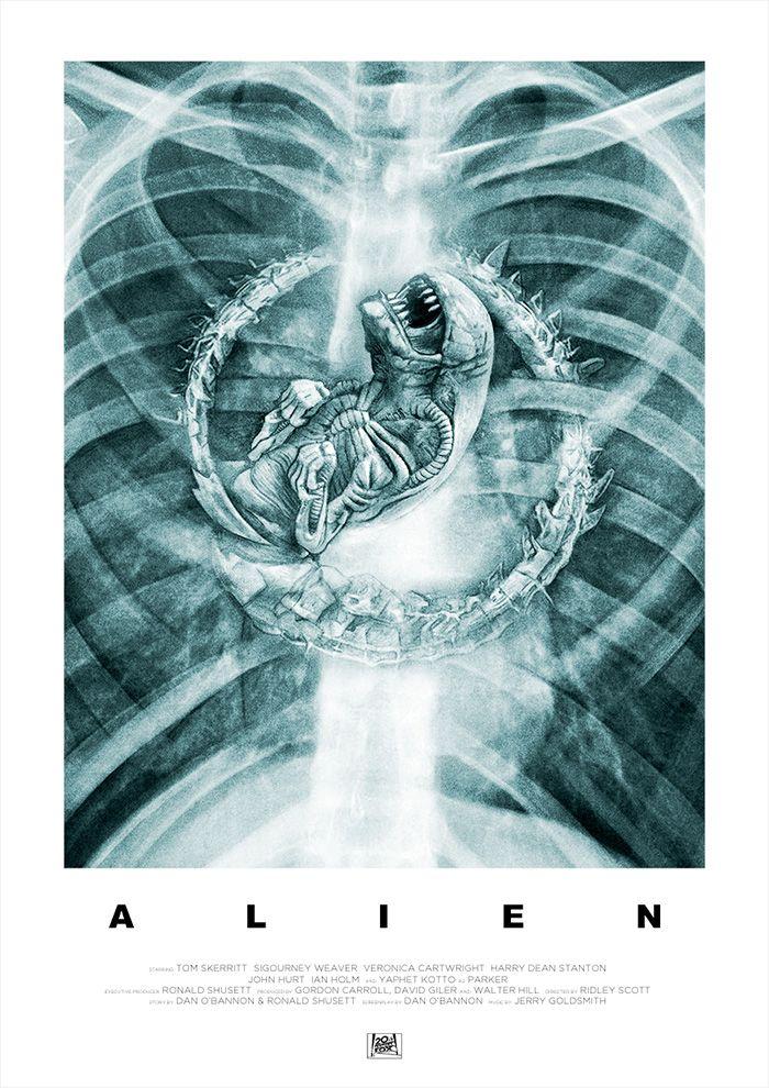 Alien by Simon Carpenter - Home of the Alternative Movie Poster -AMP-