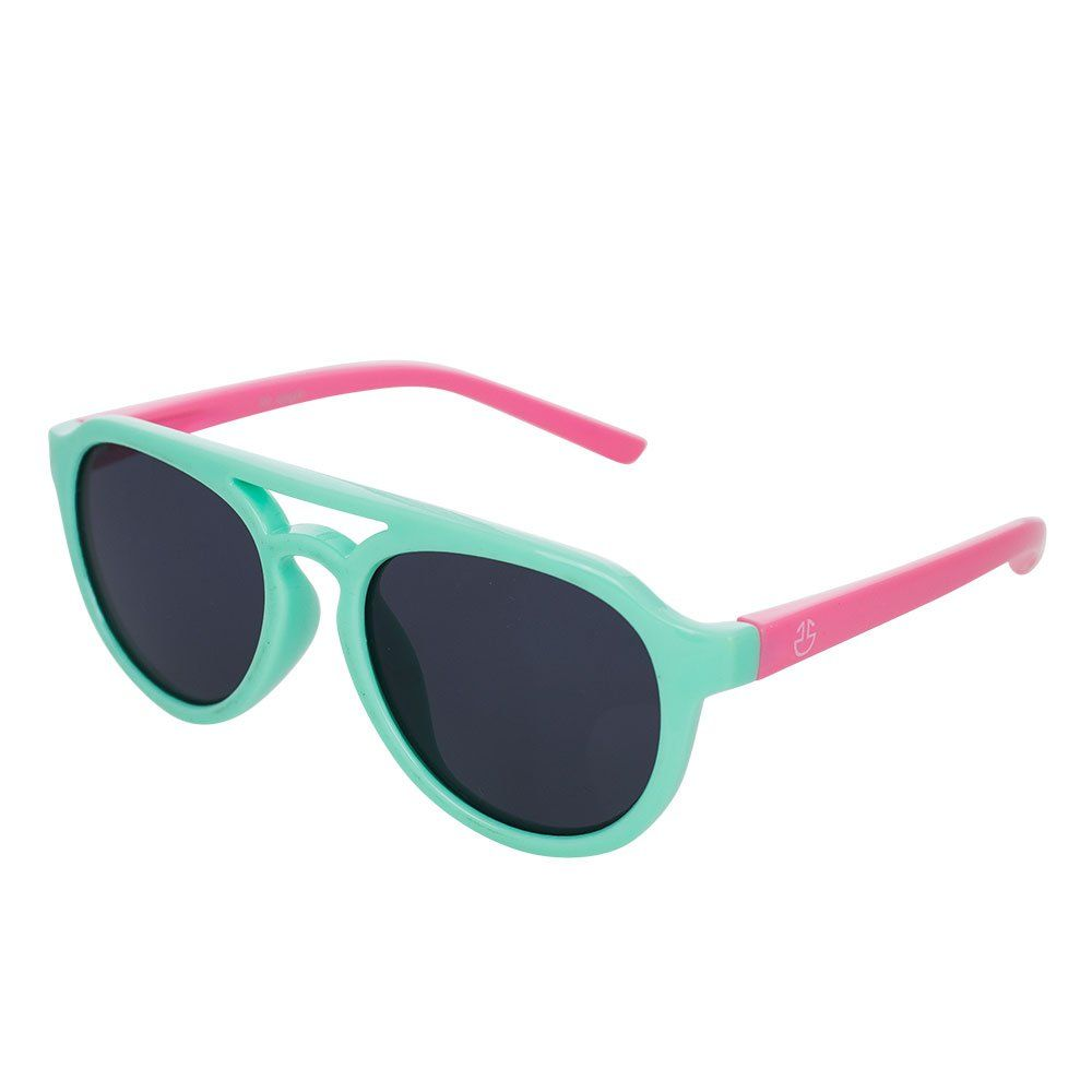 51fc1bf17af Flexible Rubber Kids Sunglasses for Boys and Girls - Bendable Unbreakable  Silicone Gel Frame with Polarized Lenses - Turquoise Frame with Pink  Temples - by ...
