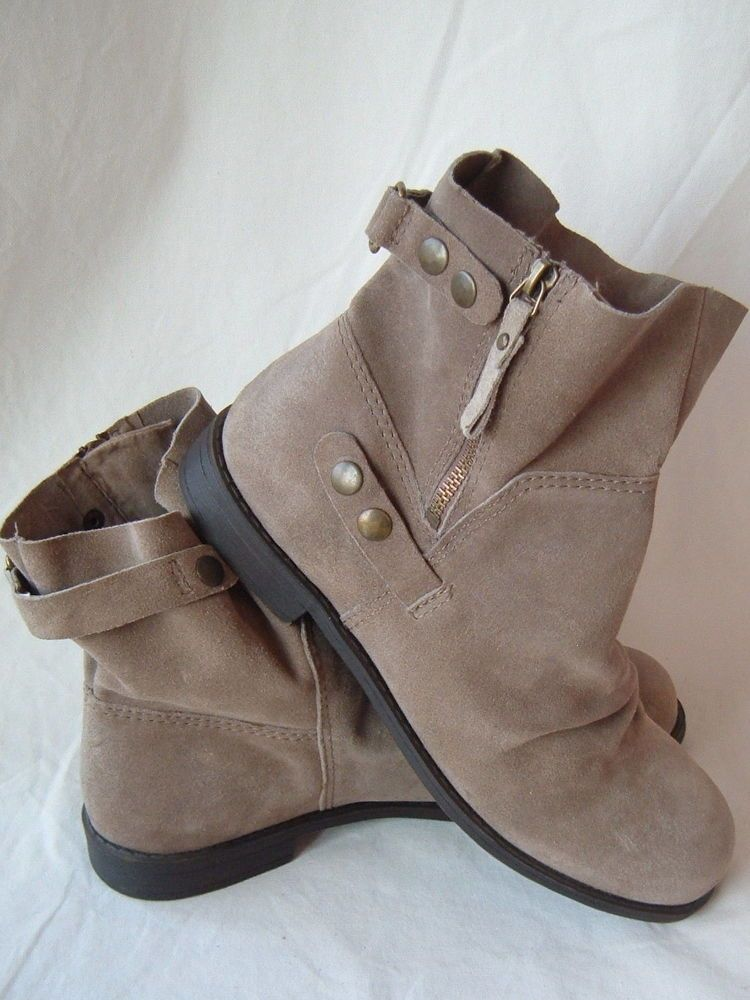 6c4926b3871 NINE WEST Vintage Collection Maeble Taupe Suede Slouchy Ankle Boots 10 M   NineWest  FashionAnkle  Casual