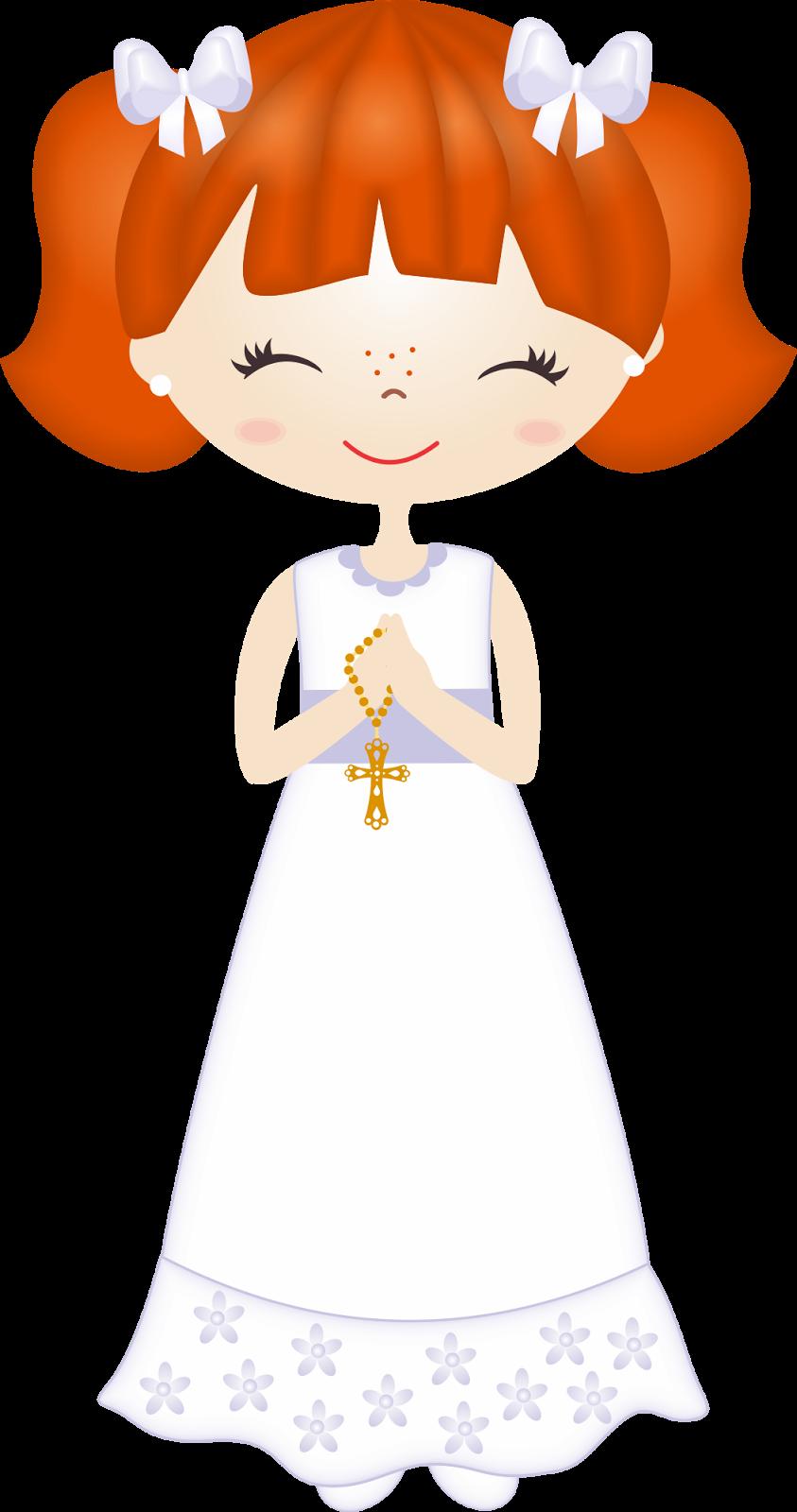 Clipart de Nenas en su Primera Comunión. | I KOMUNIA ŚW ... for Communion Girl Clipart  588gtk