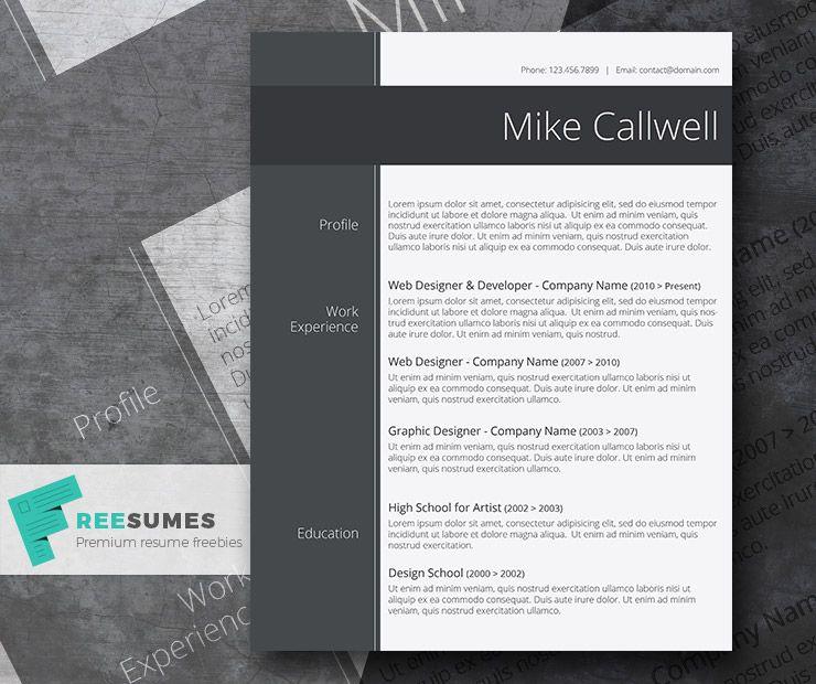 Modish And Elegant Freebie Stylish Word Resume Template Freesumes Resume Template Word Best Free Resume Templates Resume Template