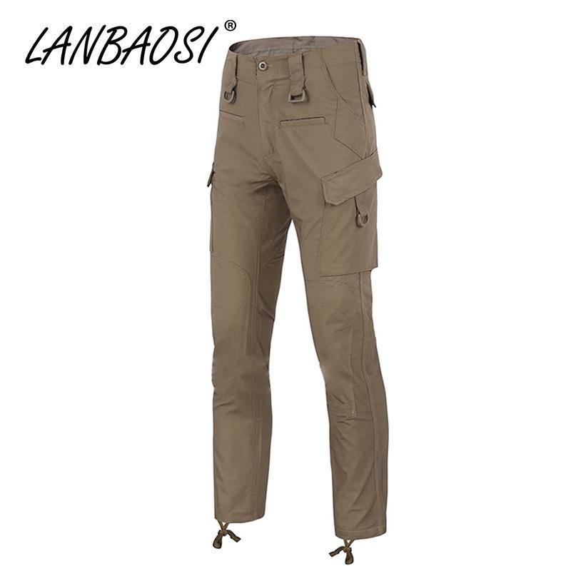 b44b6ede5d2f9 LANBAOSI Men s Combat Pants Casual Camo Army Military Tactical Pant Work Cargo  Trousers Multi Pockets Waterproof