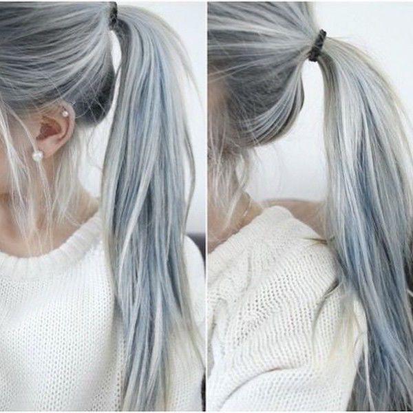 les cheveux gris sont la mode chez les jeunes femmes cheveux en 2019 denim hair hair et. Black Bedroom Furniture Sets. Home Design Ideas
