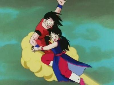 Goku And Chi Chi Flying On Nimbus Anime Dragon Ball Z Dragon Ball Gt