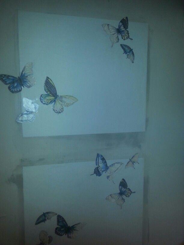 Vlinders in de tuinkamer.