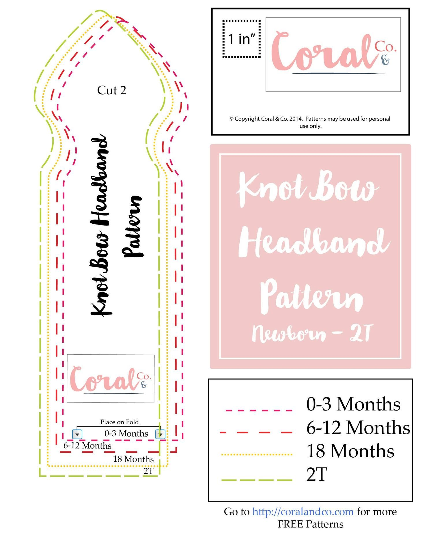 Make a Free Baby Headband Pattern! Easy knot bow headband. | Sewing ...