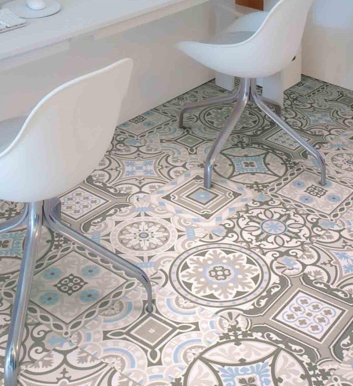 Bathroom moroccan style - Morroco Safi 04 Cushioned Sheet Vinyl Flooring Moroccan Style Loose Laid