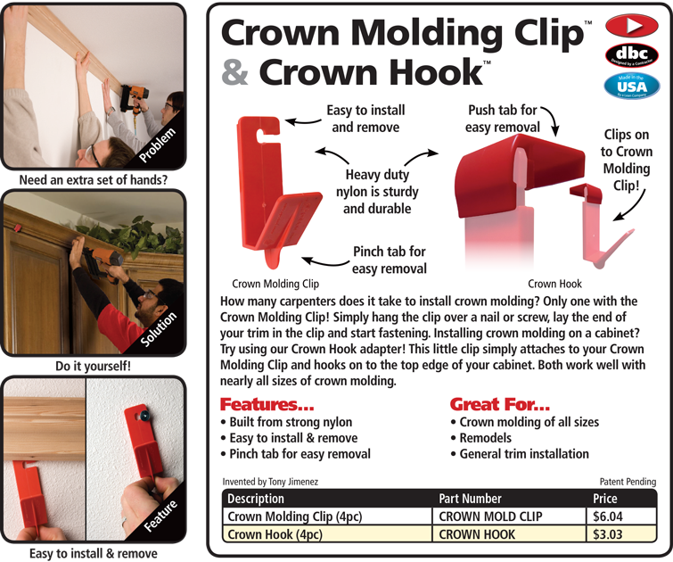 Crown Molding Clip Crown Molding Easy Crown Molding Molding
