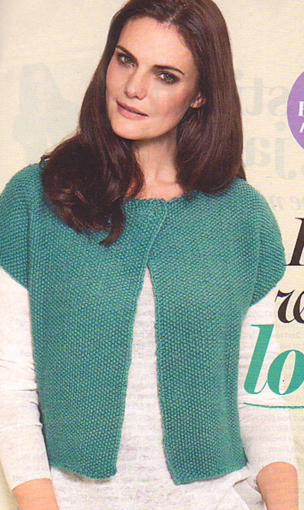 Prima Knitting Pattern, Womens Sleeveless Jacket, cap ...