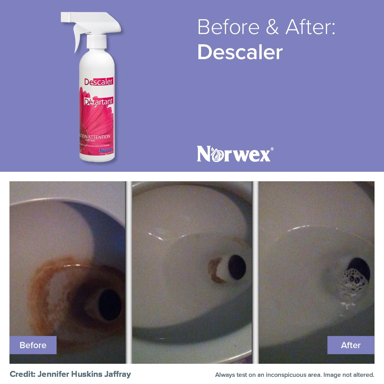 Norwex Descaler removes mineral deposits, dirt, soil, calcium, lime ...