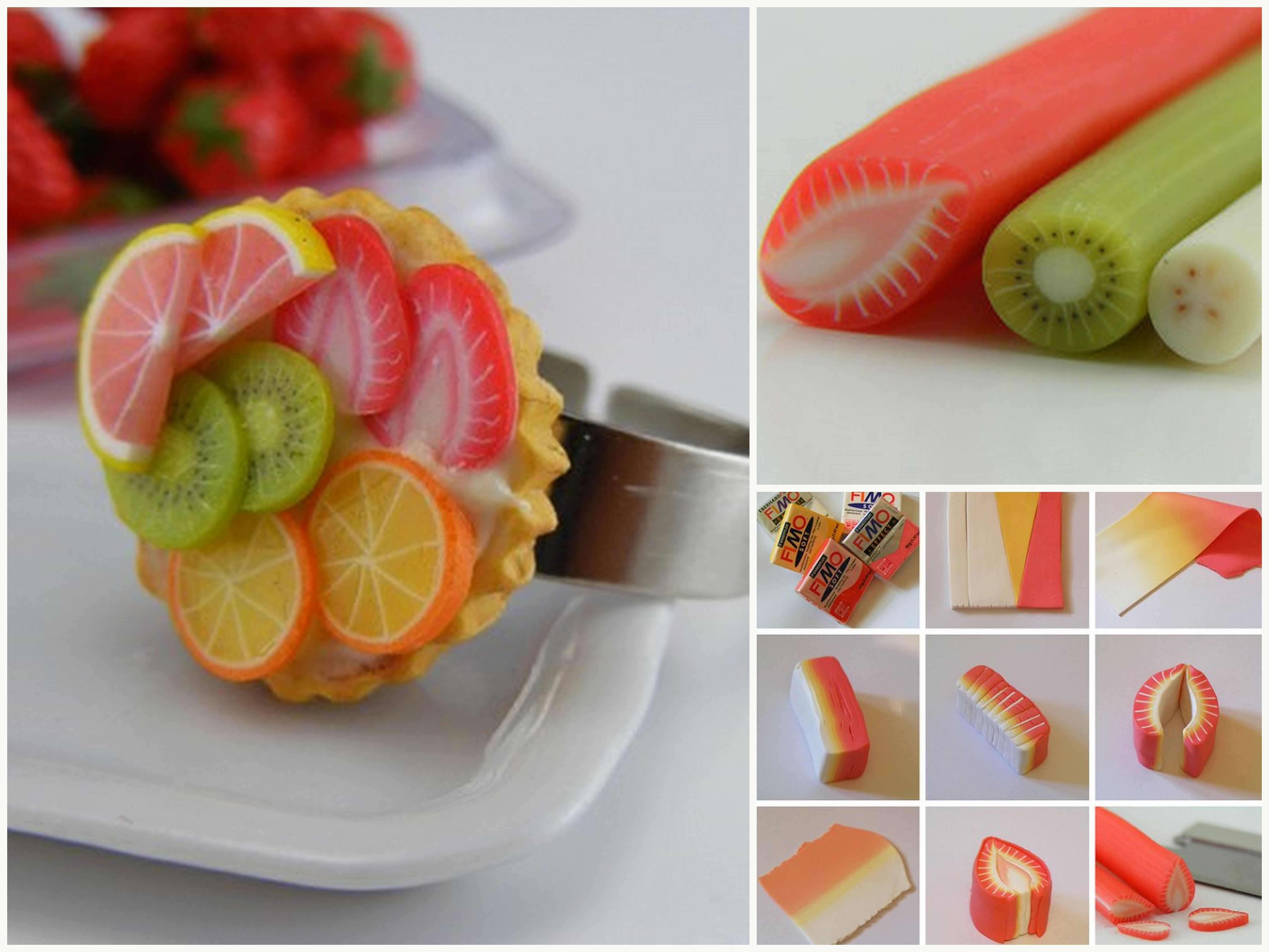 Polymer clay food rings the image kid for Polymere cuisine