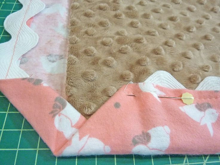 Cuddle Flannel Baby Blanket With Easy Binding Fabric