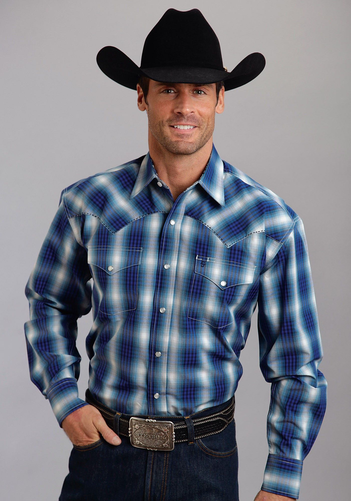 Stetson Mens Cowboy Shirt  Cripple Creek  Rock Wear in