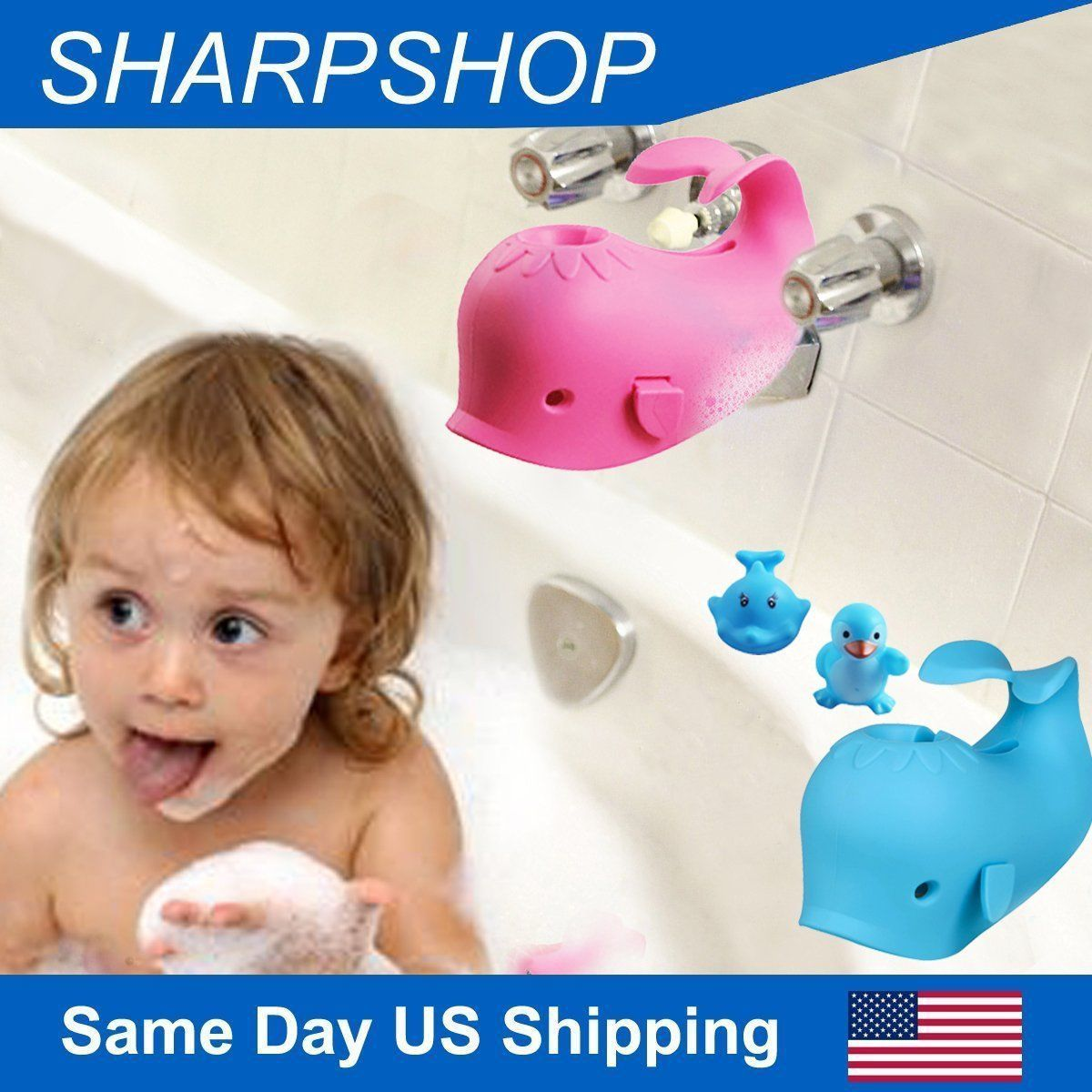 Baby Bath Spout Cover Bathroom Tub Silicone Safety Faucet Protector ...