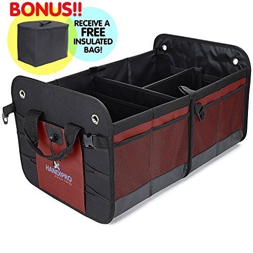 Higher Gear Products Premium Car Trunk Organizer Best Heavy Duty