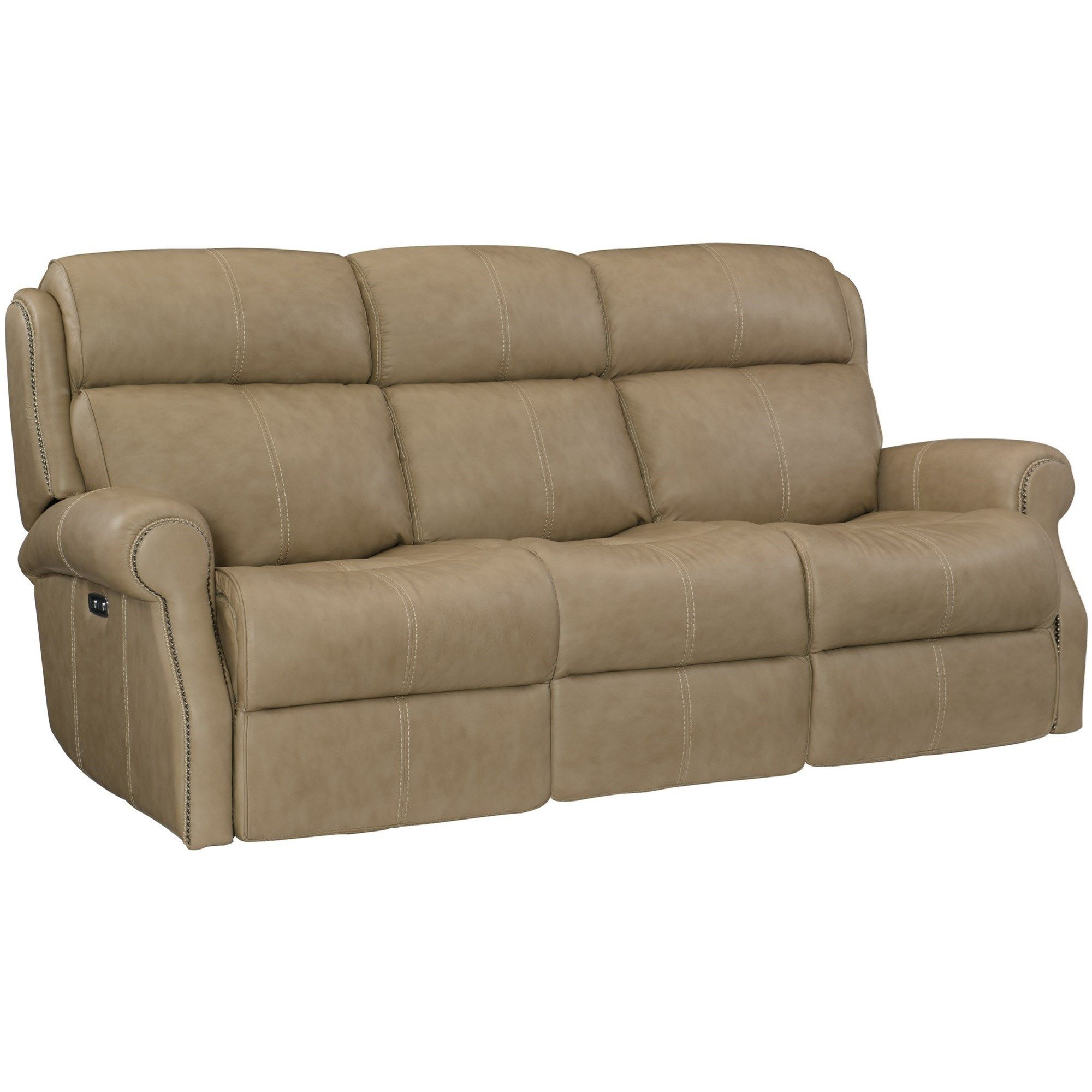 Phenomenal Mcgwire Leather Power Reclining Sofa With Power Tilt Dailytribune Chair Design For Home Dailytribuneorg